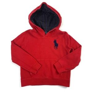 Polo Ralph Lauren Red Hoodie Size 7 Big Pony